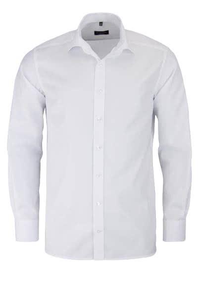 ETERNA Modern Fit Hemd extra langer Arm blickdichter Twill weiß - Hemden Meister