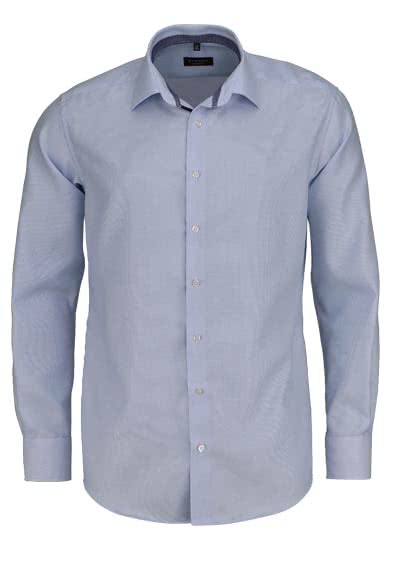 ETERNA Modern Fit Hemd extra langer Arm Twill Streifen hellblau - Hemden Meister
