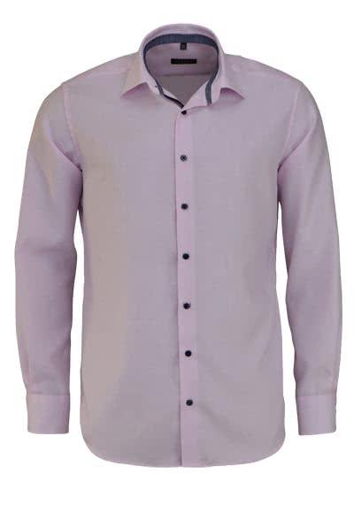 ETERNA Modern Fit Hemd extra kurzer Arm Twill Streifen rosa - Hemden Meister