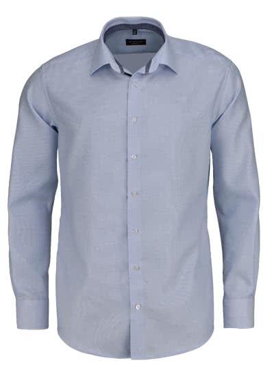 ETERNA Modern Fit Hemd extra kurzer Arm Twill Streifen hellblau - Hemden Meister