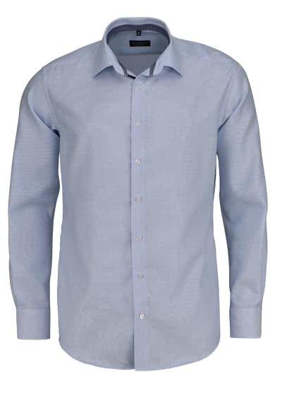 ETERNA Modern Fit Hemd super langer Arm Twill Streifen hellblau - Hemden Meister