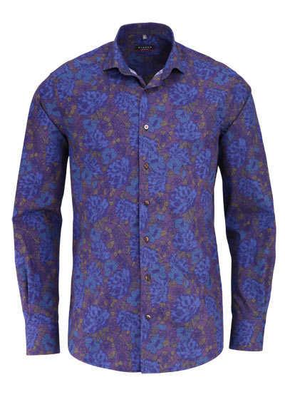 ETERNA Modern Fit Hemd Langarm Haifischkragen blau - Hemden Meister