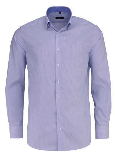 ETERNA Modern Fit Hemd Langarm Under-Button-Down Kragen Streifen blau - Hemden Meister