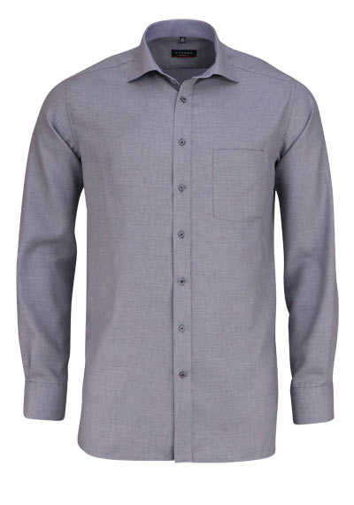 ETERNA Modern Fit Hemd extra langer Arm New Kent Kragen Muster schwarz - Hemden Meister