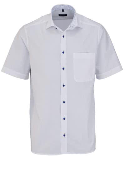 ETERNA Comfort Fit Hemd Halbarm New Kent mit Patch Kragen weiß - Hemden Meister