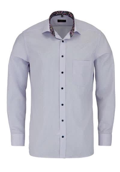 ETERNA Modern Fit Hemd Langarm New Kent Kragen Patch Karo flieder - Hemden Meister