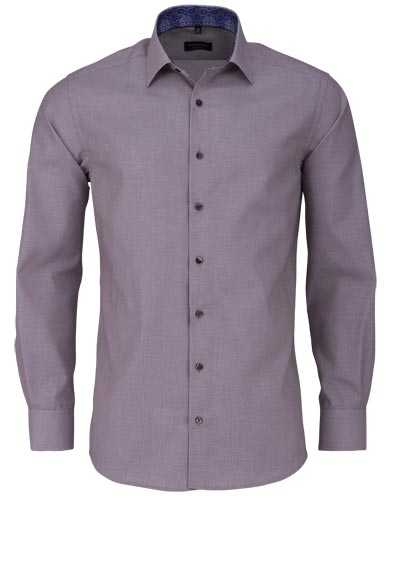 ETERNA Modern Fit Hemd extra langer Arm New Kent Kragen beige - Hemden Meister