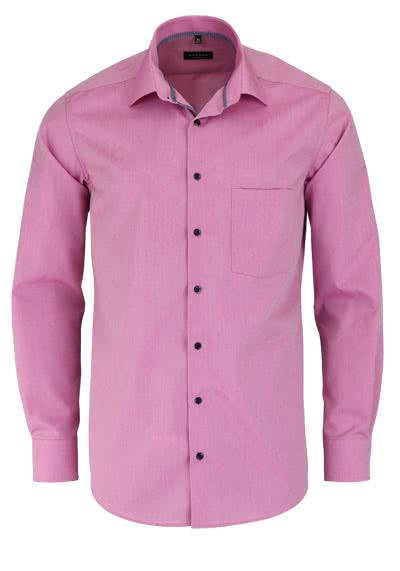 ETERNA Modern Fit Hemd super langer Arm Chambray dunkelrosa - Hemden Meister