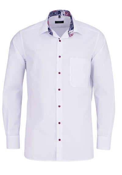 ETERNA Comfort Fit Hemd super langer Arm Kragen mit Besatz weiß - Hemden Meister
