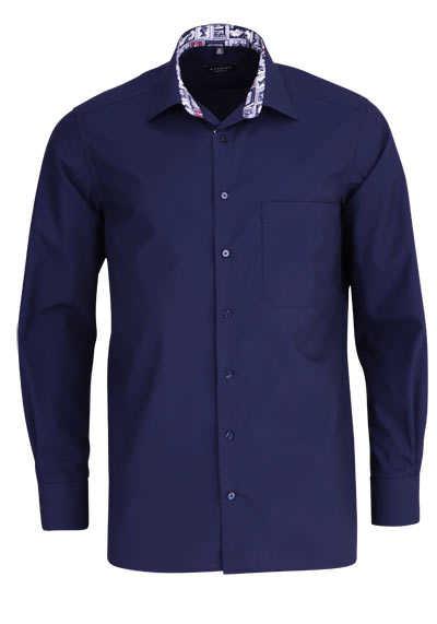 ETERNA Comfort Fit Hemd super langer Arm Kragen mit Besatz navy - Hemden Meister