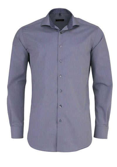 ETERNA Modern Fit Hemd extra langer Arm Haifischkragen Besatz grau - Hemden Meister