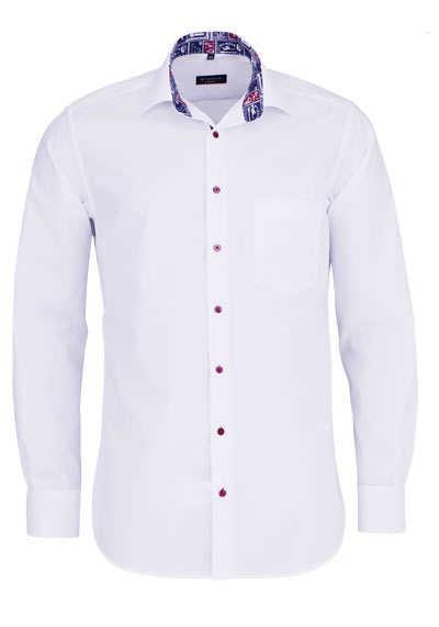 ETERNA Modern Fit Hemd extra langer Arm Kragen mit Besatz weiß - Hemden Meister