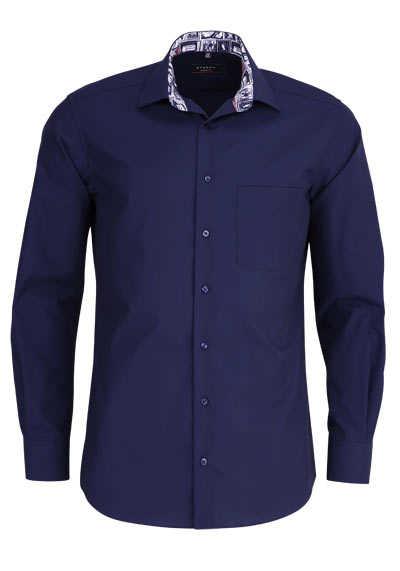 ETERNA Modern Fit Hemd extra langer Arm Kragen mit Besatz navy - Hemden Meister