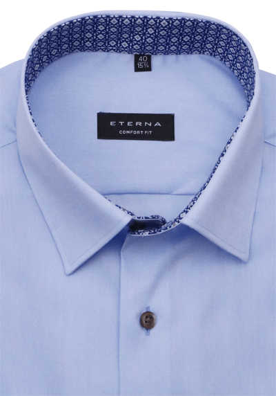ETERNA Comfort Fit Hemd super langer Arm New Kent Kragen hellblau