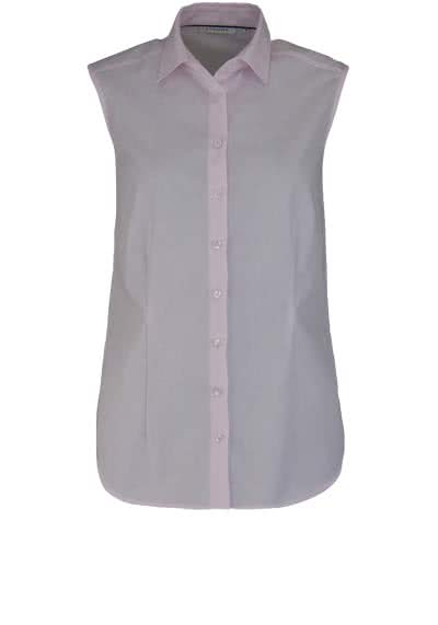 ETERNA Comfort Fit Bluse ohne Arm Hemdenkragen swiss+cotton rosa