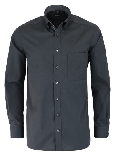 ETERNA Comfort Fit Hemd Langarm Button Down anthrazit