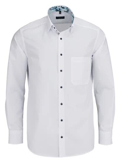ETERNA Comfort Fit Hemd Langarm Under Button Down Kragen weiß