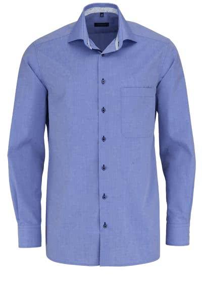 ETERNA Comfort Fit Hemd extra langer Arm New Kent Kragen rauchblau 8ab64cdc40