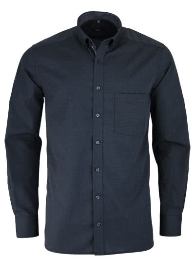 ETERNA Modern Fit Hemd Langarm Button Down Kragen Fil a Fil anthrazit