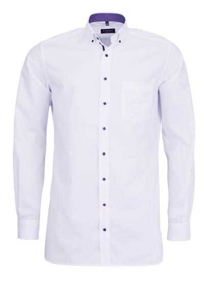 ETERNA Modern Fit Hemd Langarm Button Down Kragen weiß