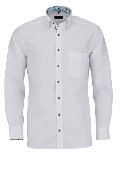 ETERNA Modern Fit Hemd extra Langarm Under Button Down Kragen weiß