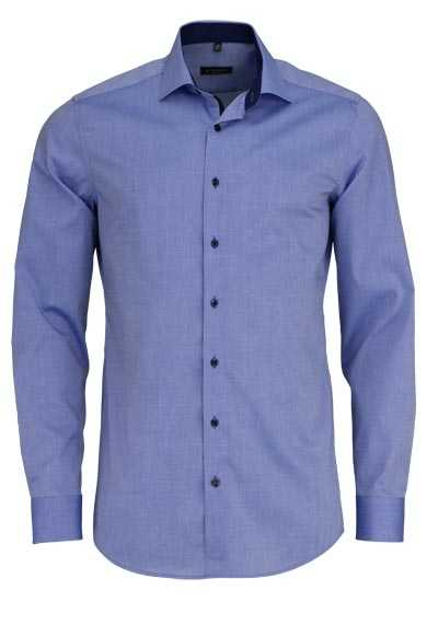 ETERNA Slim Fit Hemd Langarm New Kent Kragen Stretch himmelblau