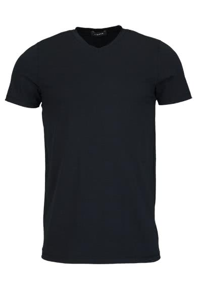 ETERNA Bodywear T-Shirt V-Ausschnitt Stretch schwarz - Hemden Meister
