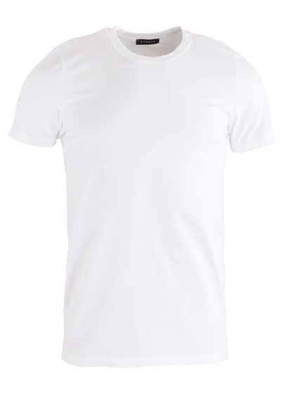 ETERNA Bodywear T-Shirt Rundhalsausschnitt Stretch Uni weiß - Hemden Meister