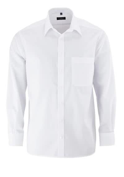 ETERNA Comfort Fit Hemd extra langer Arm Popeline weiß - Hemden Meister
