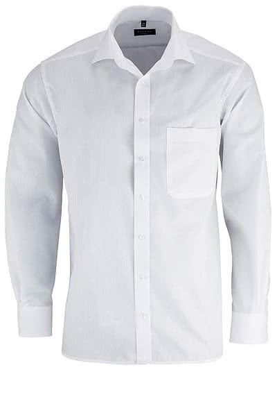 ETERNA Comfort Fit Hemd Langarm mit Brusttasche Popeline weiß - Hemden Meister