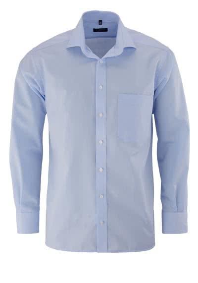 ETERNA Comfort Fit Hemd Langarm mit Brusttasche Popeline hellblau - Hemden Meister