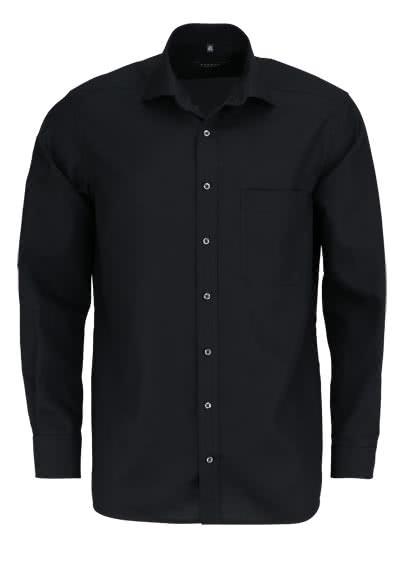ETERNA Comfort Fit Hemd Langarm mit Brusttasche Popeline schwarz - Hemden Meister