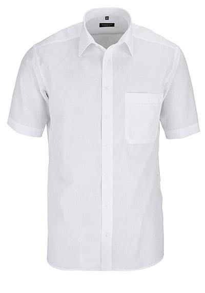 ETERNA Comfort Fit Hemd Halbarm mit Brusttasche Popeline weiß - Hemden Meister