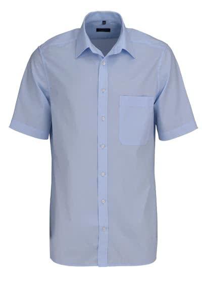 ETERNA Comfort Fit Hemd Halbarm mit Brusttasche Popeline hellblau - Hemden Meister