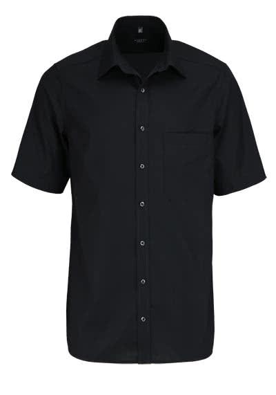 ETERNA Comfort Fit Hemd Halbarm mit Brusttasche Popeline schwarz - Hemden Meister