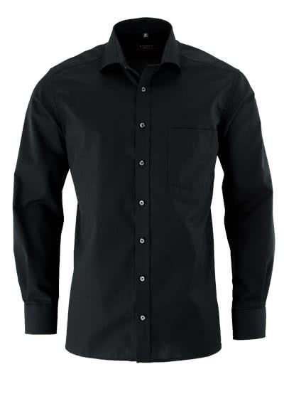 ETERNA Modern Fit Hemd Langarm mit Brusttasche schwarz - Hemden Meister