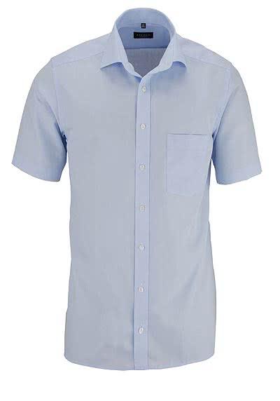 ETERNA Modern Fit Hemd Halbarm mit Brusttasche Popeline hellblau - Hemden Meister