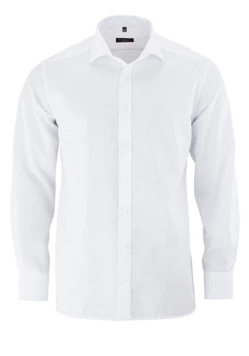 ETERNA Modern Fit Hemd extra langer Arm Popeline weiß - Hemden Meister