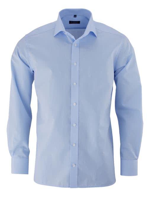 ETERNA Modern Fit Hemd Langarm mit New Kent Kragen Popeline hellblau - Hemden Meister