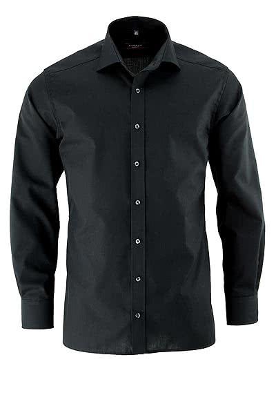 ETERNA Modern Fit Hemd extra langer Arm Popeline schwarz - Hemden Meister