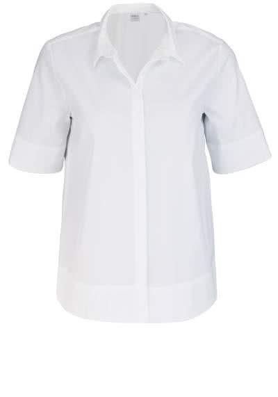 ETERNA Modern Fit Bluse Halbarm mit Hemdkragen weiß - Hemden Meister