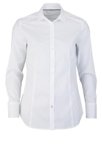 ETERNA Slim Fit Bluse Langarm Hemdenkragen Stretch weiß - Hemden Meister