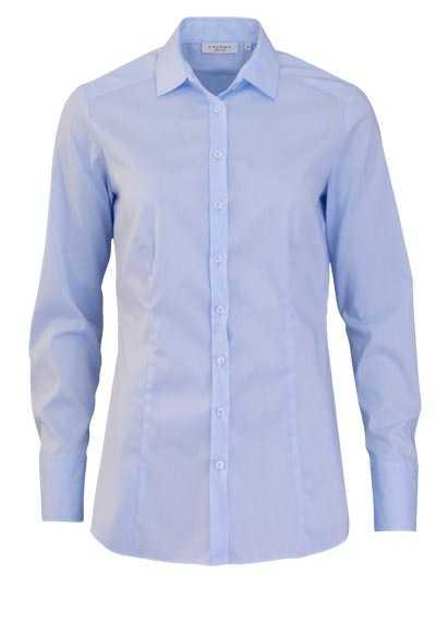 ETERNA Slim Fit Bluse Langarm Hemdenkragen Stretch hellblau - Hemden Meister