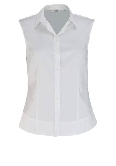 ETERNA Slim Fit Bluse ohne Arm Hemdenkragen Stretch weiß - Hemden Meister