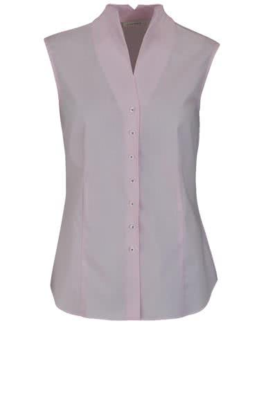 ETERNA Comfort Fit Bluse ohne Arm Kelchkragen Streifen rosa - Hemden Meister
