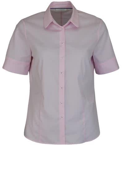 ETERNA Comfort Fit Bluse Halbarm Hemdenkragen Streifen rosa - Hemden Meister