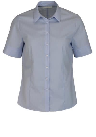 ETERNA Comfort Fit Bluse Halbarm Hemdenkragen Streifen hellblau - Hemden Meister