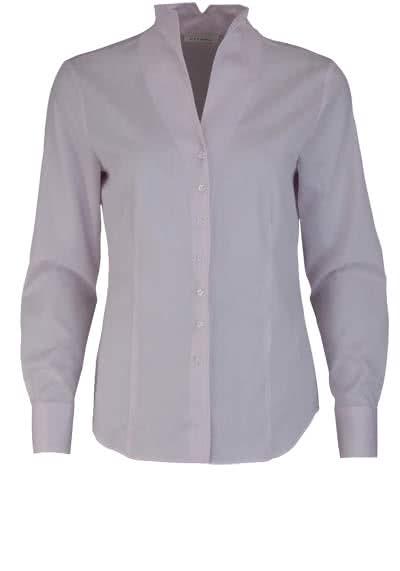 ETERNA Comfort Fit Bluse Langarm Kelchkragen Struktur rosa - Hemden Meister