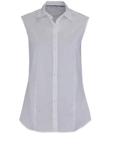 ETERNA Comfort Fit Bluse ohne Ärmel Hemdkragen weiß - Hemden Meister