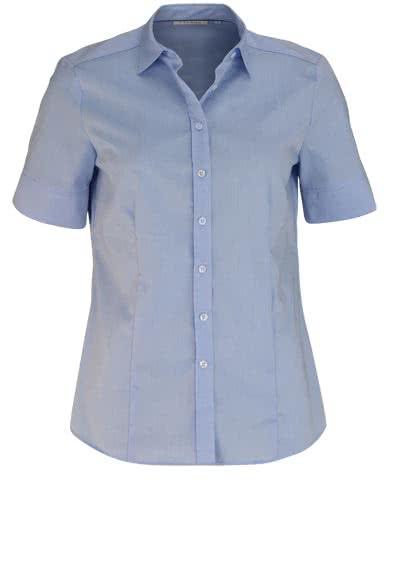 ETERNA Comfort Fit Bluse Halbarm Hemdkragen hellblau - Hemden Meister